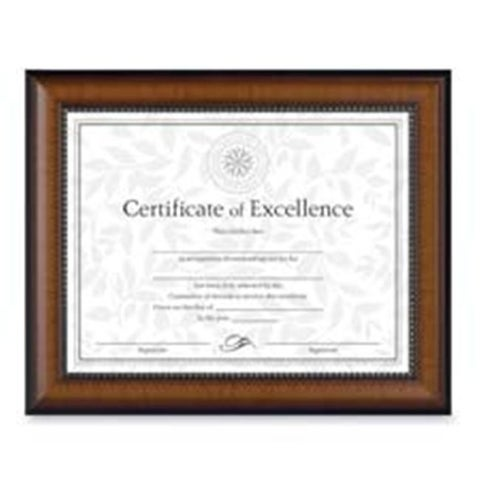 The Burns Group Document Frames- 10-.63in.x13-.13in.- Rosewood