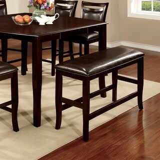 Link to Furniture of America Zita Espresso Counter Height Dining Bench Similar Items in Kitchen & Dining Room Chairs