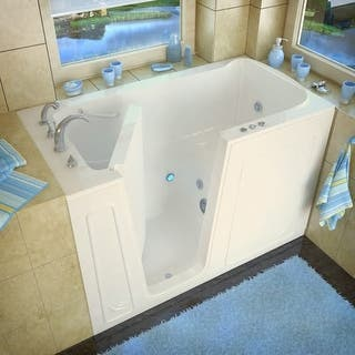 used walk in bathtub. Walk In Tubs 60  Acrylic Whirlpool Bathtub for Alcove Installations with Left Drain For Less Overstock com