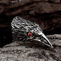 Vienna Jewelry The Falcon's Beak Stainless Steel Ring - Thumbnail 3