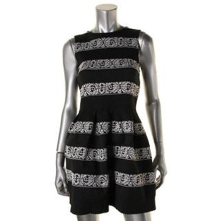 Speechless Womens Juniors Textured Striped Party Dress - M