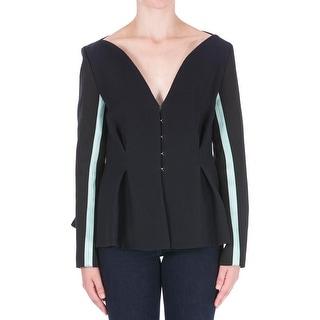 Roksanda Ilincic Womens Textured Contrast Stripe Blazer - 8