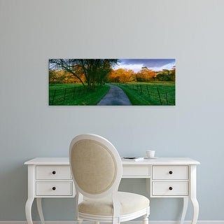 Easy Art Prints Panoramic Images's 'Country road passing through a field, Dorset, England' Premium Canvas Art