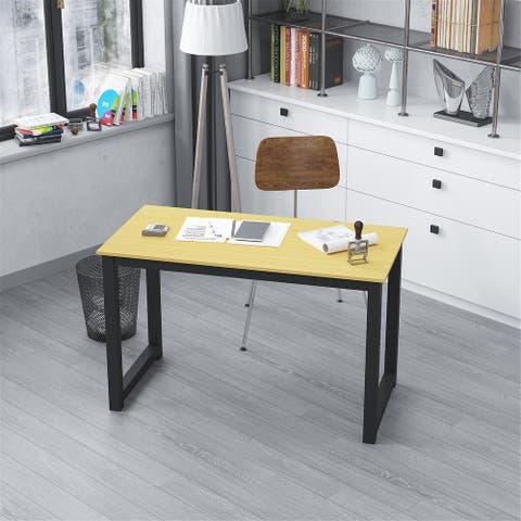 Modern Sturdy Office Desk for Home Office-Oak