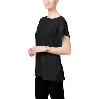 MICHAEL Michael Kors Womens Casual Top Chiffon Poncho Sleeves