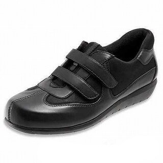 SoftWalk NEW Black Shoes Size 5M Oxfords Straps Montreal Leather