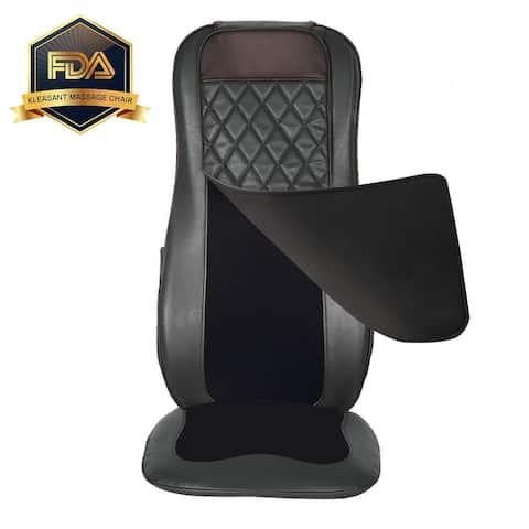 Shiatsu Neck & Back Massager, Adjustable Rolling Kneading Vibration Seat Black - Small
