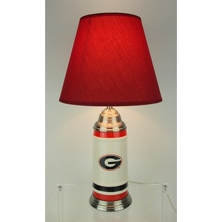 University of Georgia Bulldogs Logo Ceramic Table Lamp 21 Inches Tall - Red