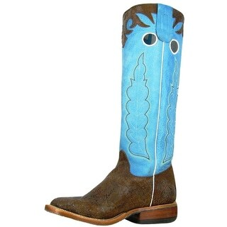 Olathe Western Boots Mens Square Toe Cowboy Buckaroo Rust Aqua