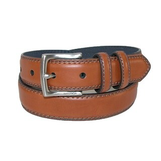 Nautica Boys' Double Loop Stitched Edge Belt