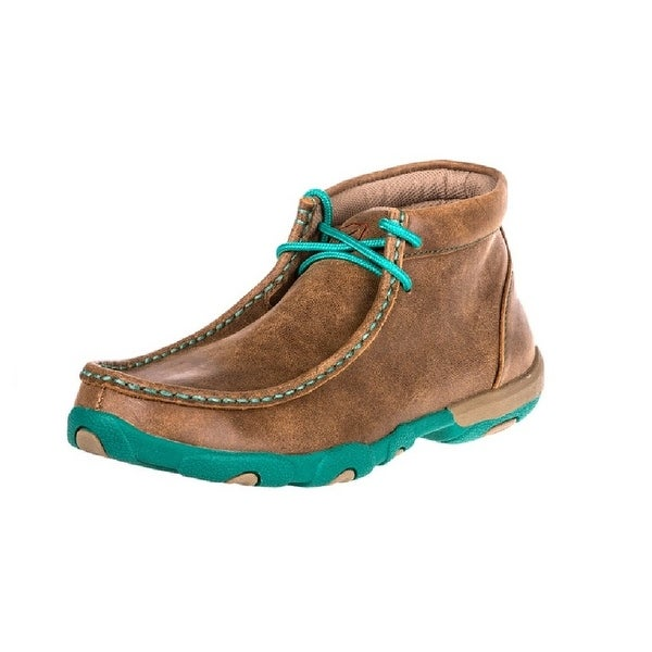 Twisted X Casual Shoes Womens Driving Mocs Lace Up Bomber Turq