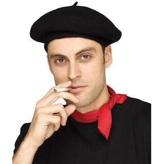 French Beret Or Police Officer Hat - Black