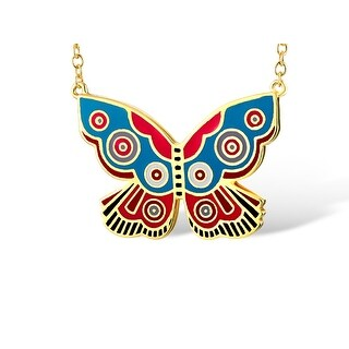 Laurel Burch Goldtone Summer Butterfly Pendant W/ Necklace