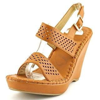 DbDk Fashion Meira-1 Women Open Toe Leather Wedge Sandal