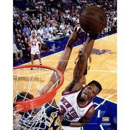 Patrick Ewing Basketball Popout 32x40 Framed Canvas w/ Ball Mount ()