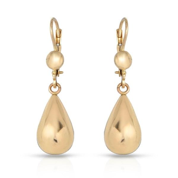 Mcs Jewelry Inc 10 KARAT YELLOW GOLD DANGLING EARRINGS 35MM