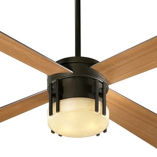 "Quorum International 53524 4 Blade 52"" Ceiling Fan from the Mission Collection - oiled bronze"