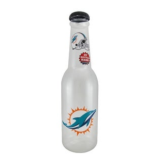 NFL Miami Dolphins Jumbo 21 in. Officially Licensed Bottle Bank - CLEAR
