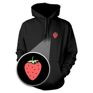 Strawberry Hoodie Pocket Print Hooded Sweatshirt Graphic Sweater