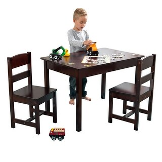 KidKraft: Rectangle Table & 2 Chairs - Espresso