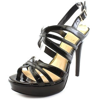 Jessica Simpson Binnie Women Open Toe Synthetic Black Platform Heel