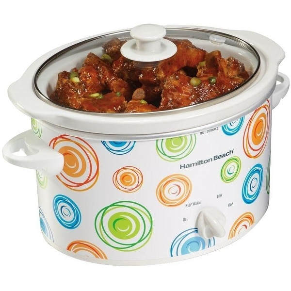 Hamilton Beach 33138 Oval Slow Cooker, 3 Quart - White