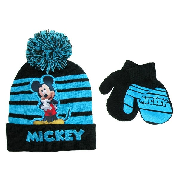 68f16ac941980 Shop Disney Infant   Toddler s Mickey Mouse Hat and Mitten Winter Set -  Free Shipping On Orders Over  45 - Overstock - 17904750