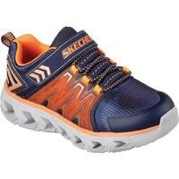 Skechers Boys' S Lights Hypno-Flash 2.0 Sneaker Navy/Orange
