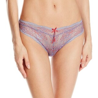 Heidi Klum Intimates Womens Deux Couleurs Blue and Red Bikini Underwear Medium M