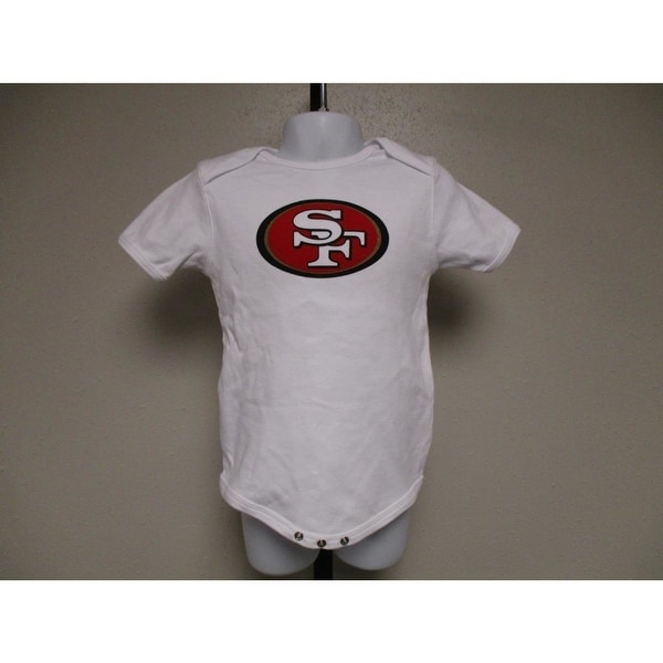 63c9033a22a Shop Minor Flaw San Francisco 49ers NFL Team Apparel Infant 24m White  Creeper - Free Shipping On Orders Over  45 - Overstock - 23083116