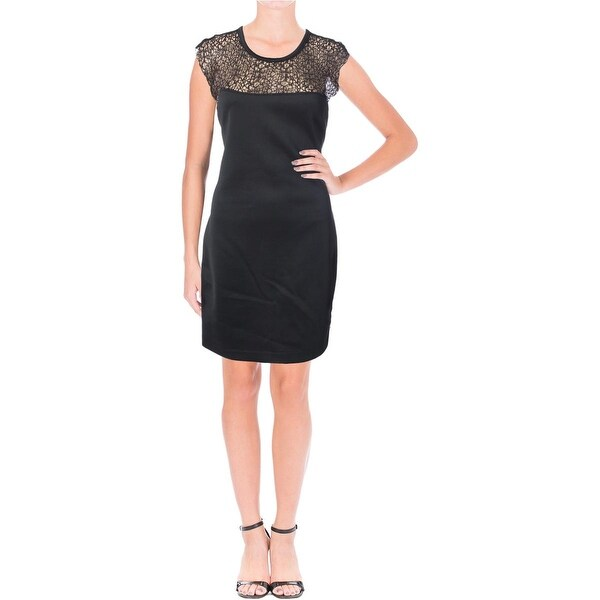 Kiind Of Womens Heidi Cocktail Dress Lace Yoke Mini