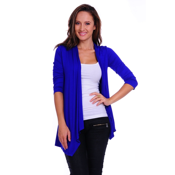 Simply Ravishing Women's Basic 3/4 Sleeve Open Cardigan (Size: Small-5X)