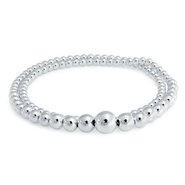 Womens Mens Kids 925 Sterling Silver Gold Plated Plain Beads Chain Necklace