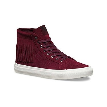 Vans Mens SK8-HI Moc Hight Top Lace Up Fashion Sneakers, Red (mens 6/womens 7.5)