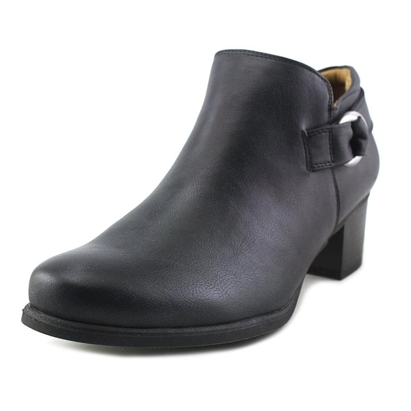 NaturalSoul by Naturalizer Sandie Women Round Toe Synthetic Black Bootie
