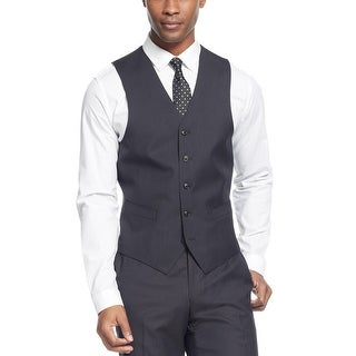 Sean John Black Diamond Texture Vest Classic Fit - Suit Separates