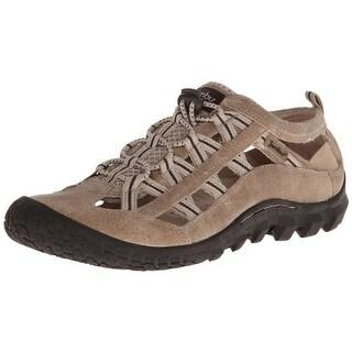 Jambu Mens Crest Leather Cut-Out Walking Shoes