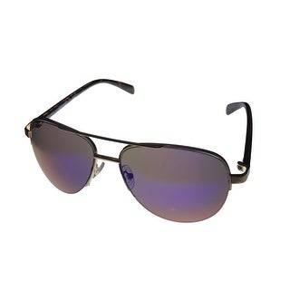 Kenneth Cole Reaction KC1257 32Q Rimless Aviator Mirror Lenses Mens Sunglasses - Medium
