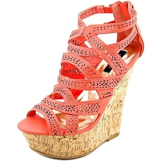 Dollhouse EVENT Open Toe Synthetic Wedge Heel