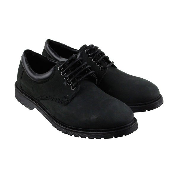 Steve Madden Jiminy Mens Black Suede Casual Dress Lace Up Oxfords Shoes