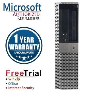 Refurbished Dell OptiPlex 960 Desktop Intel Core 2 Quad Q6600 2.4G 4G DDR2 500G DVDRW Win 7 Pro 64 Bits 1 Year Warranty - Black