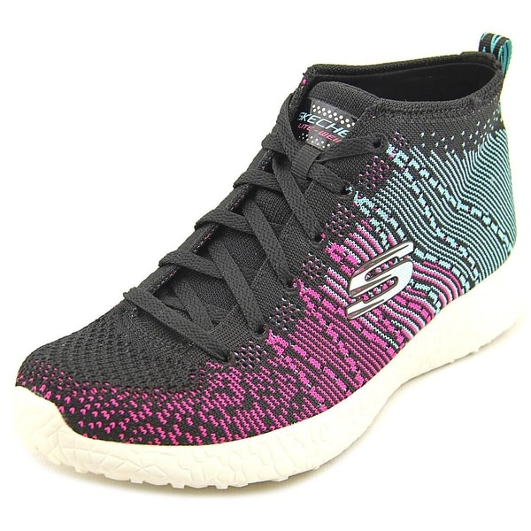 Skechers Burst Sweet Symphony High Top Women Round Toe Canvas Black Sneakers
