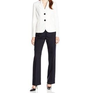 Le Suit NEW White Size 18 Junior Colorblock Two-Button Pant Suit