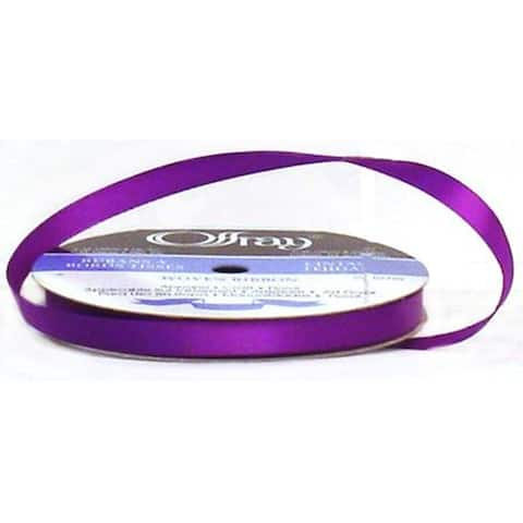 "Offray Ribbon Singleface Satin 3/8"" Purple"