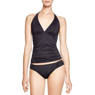 Tommy Bahama Pearl Solids Womens Tankini Top Swimsuit Black Small S