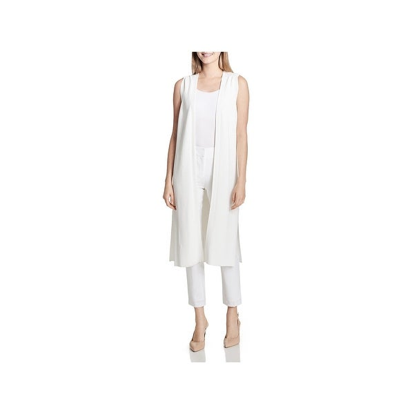 Calvin Klein Womens Duster Sweater Open Front Vest