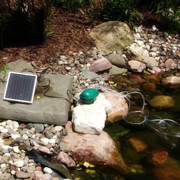 Sunnydaze 52 GPH Solar Oxygenator Plus With Battery Pack - Run Day or Night