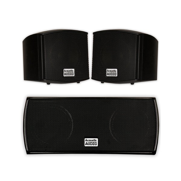 Acoustic Audio AA321B and AA32CB Mountable Indoor Speakers Home 3 Speaker Set