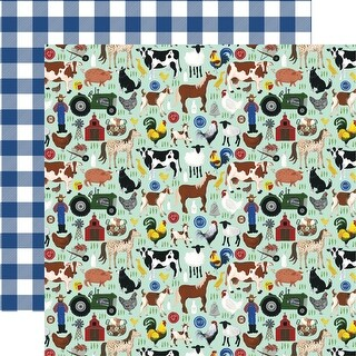 "Down On The Farm Double-Sided Cardstock 12""X12""-Barn Yard Friends"