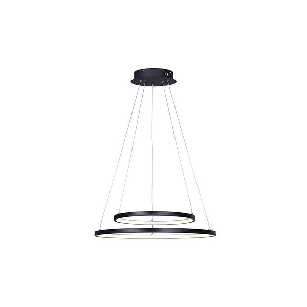 """Canarm LCH128A24 Lexie 2 Light 24"""" Wide Integrated LED Ring Chandelier. Opens flyout."""